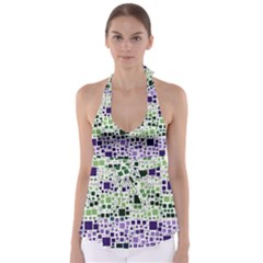 Block On Block, Purple Babydoll Tankini Top