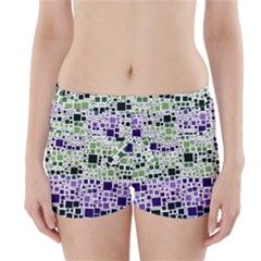Block On Block, Purple Boyleg Bikini Wrap Bottoms