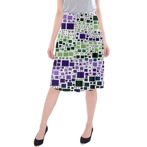 Block On Block, Purple Midi Beach Skirt