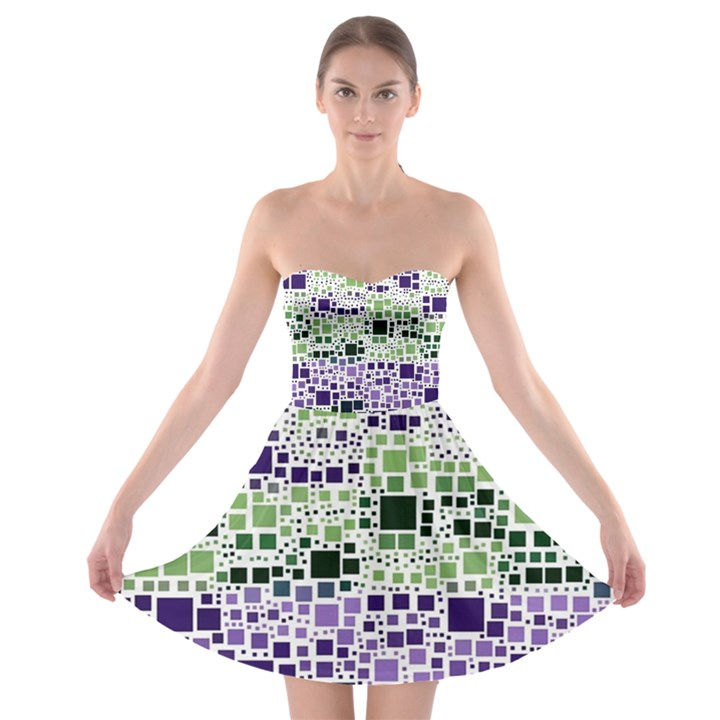 Block On Block, Purple Strapless Bra Top Dress