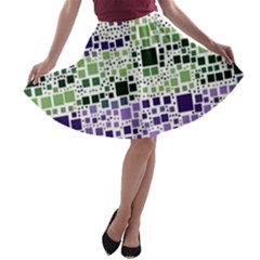Block On Block, Purple A-line Skater Skirt