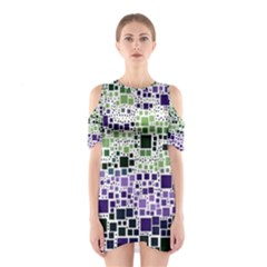 Block On Block, Purple Cutout Shoulder Dress