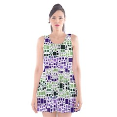 Block On Block, Purple Scoop Neck Skater Dress