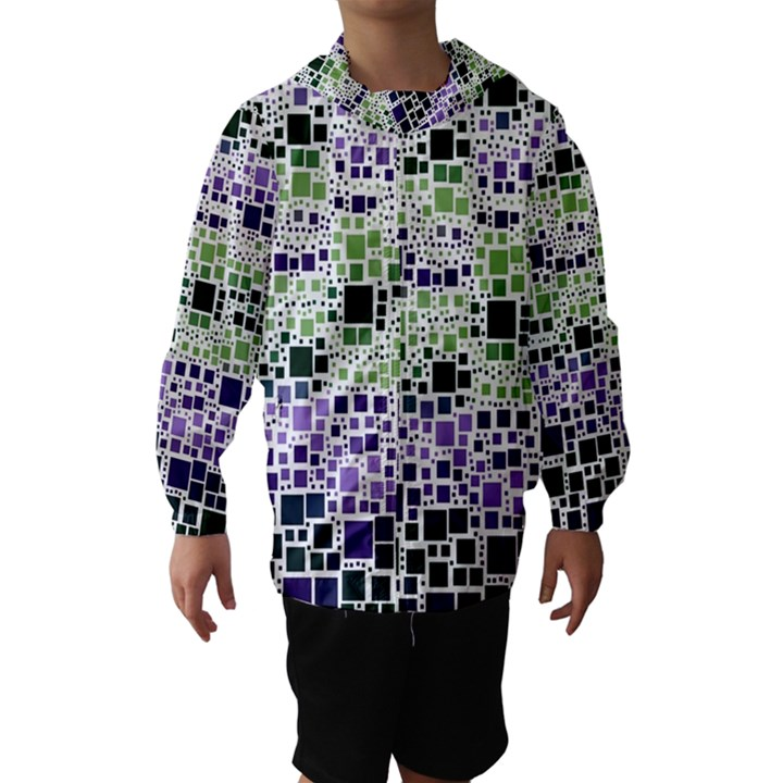 Block On Block, Purple Hooded Wind Breaker (Kids)