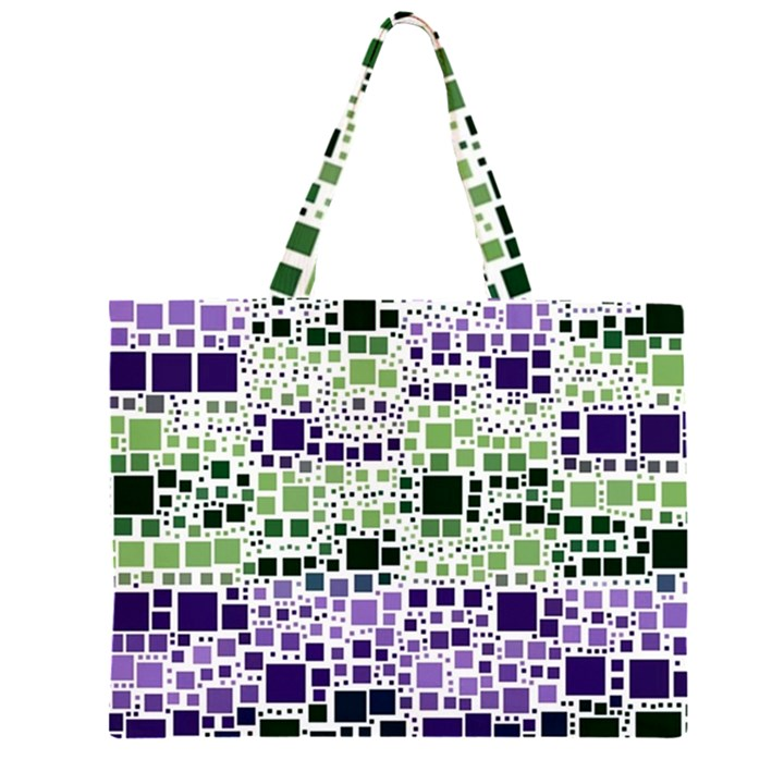 Block On Block, Purple Large Tote Bag