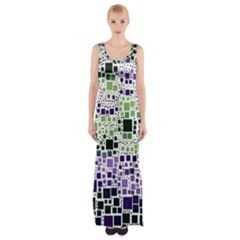 Block On Block, Purple Maxi Thigh Split Dress