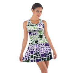 Block On Block, Purple Cotton Racerback Dress