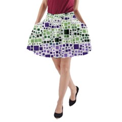 Block On Block, Purple A Line Pocket Skirt