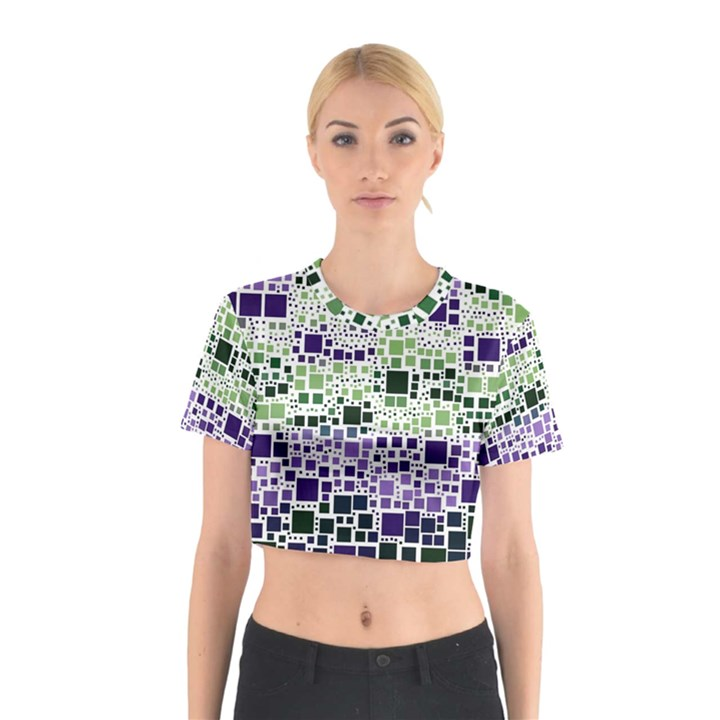 Block On Block, Purple Cotton Crop Top