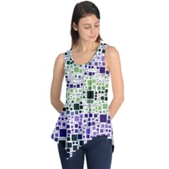 Block On Block, Purple Sleeveless Tunic