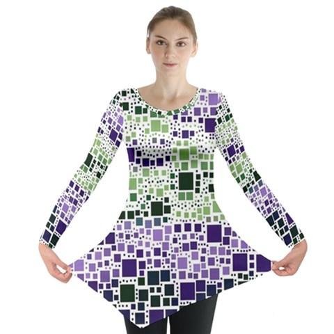 Block On Block, Purple Long Sleeve Tunic