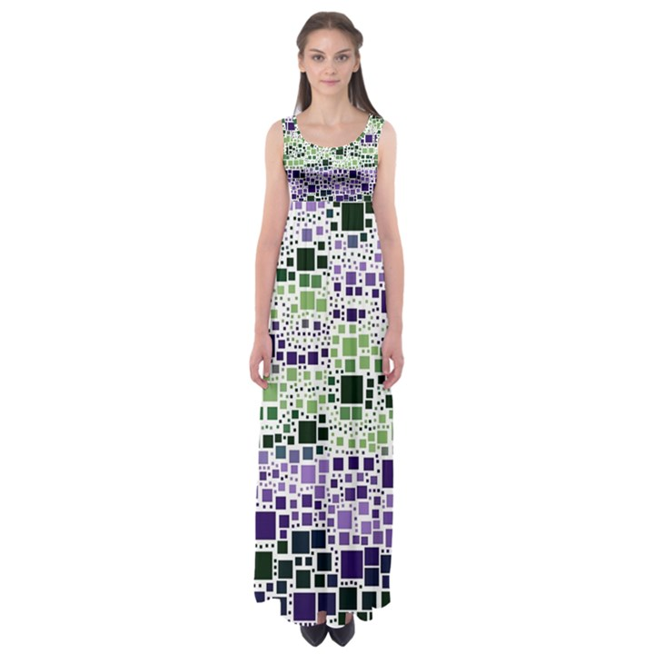 Block On Block, Purple Empire Waist Maxi Dress