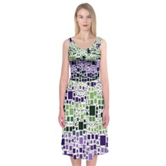 Block On Block, Purple Midi Sleeveless Dress