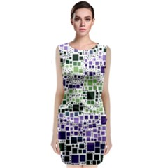 Block On Block, Purple Classic Sleeveless Midi Dress