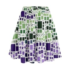 Block On Block, Purple High Waist Skirt