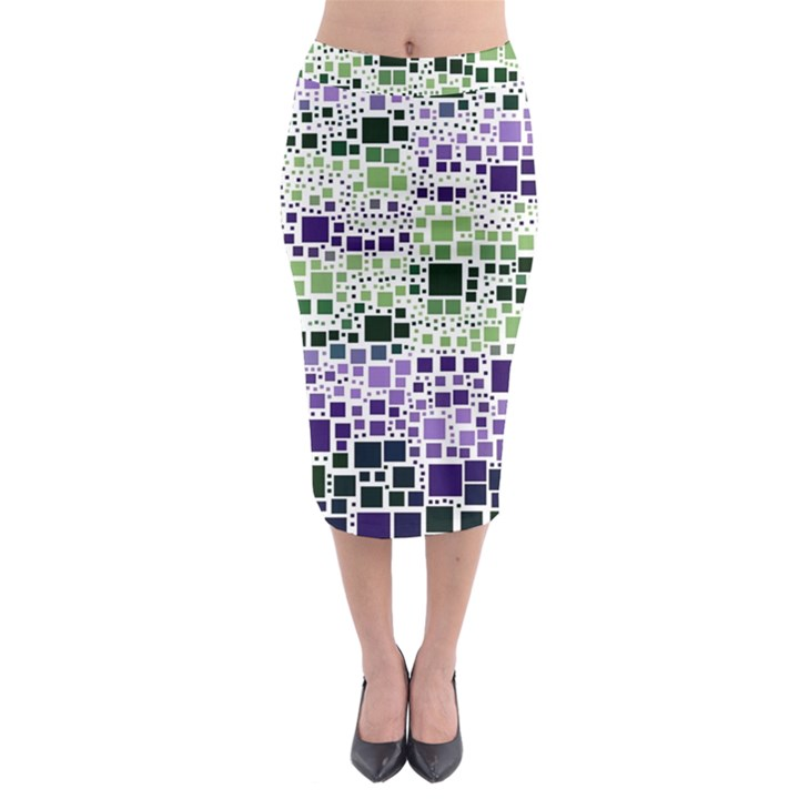 Block On Block, Purple Midi Pencil Skirt