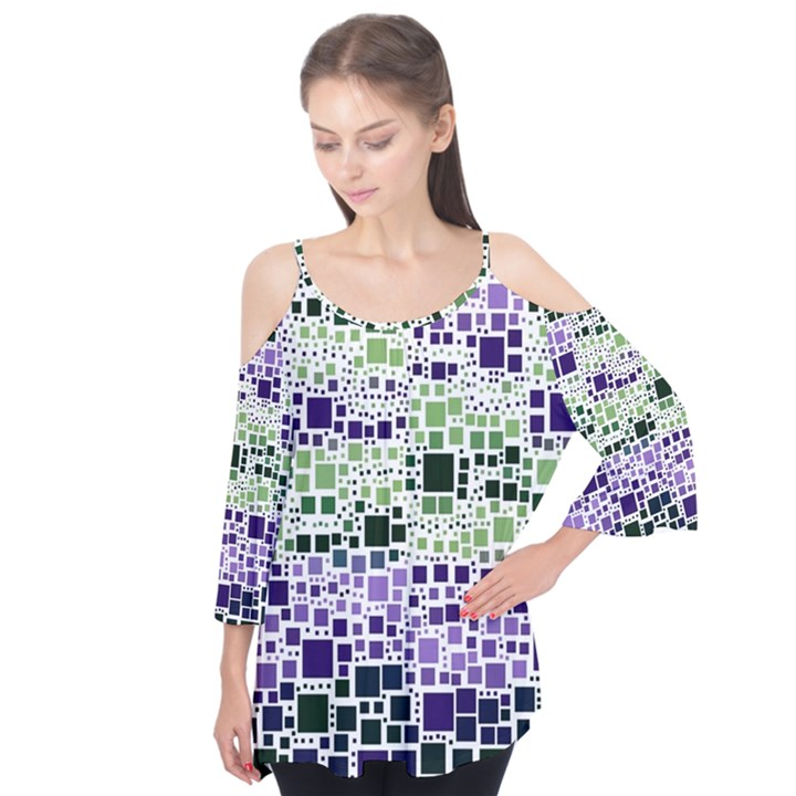 Block On Block, Purple Flutter Tees