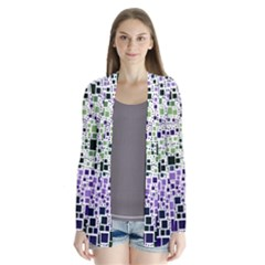 Block On Block, Purple Drape Collar Cardigan