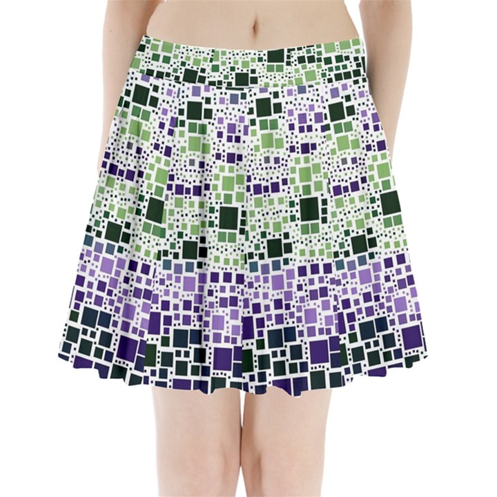 Block On Block, Purple Pleated Mini Skirt