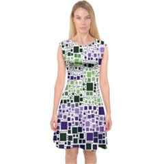 Block On Block, Purple Capsleeve Midi Dress