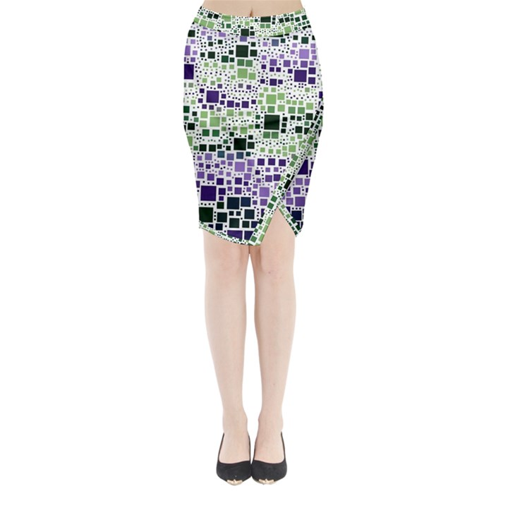 Block On Block, Purple Midi Wrap Pencil Skirt