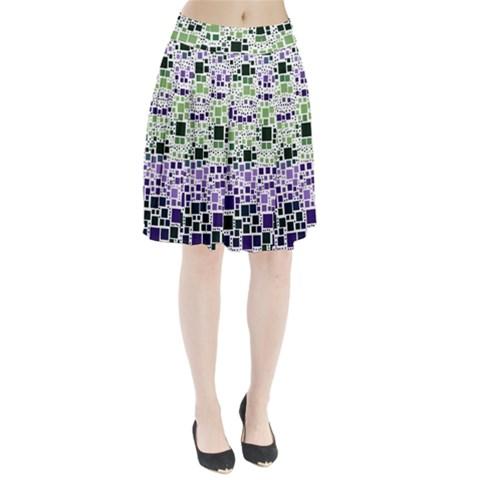 Block On Block, Purple Pleated Skirt