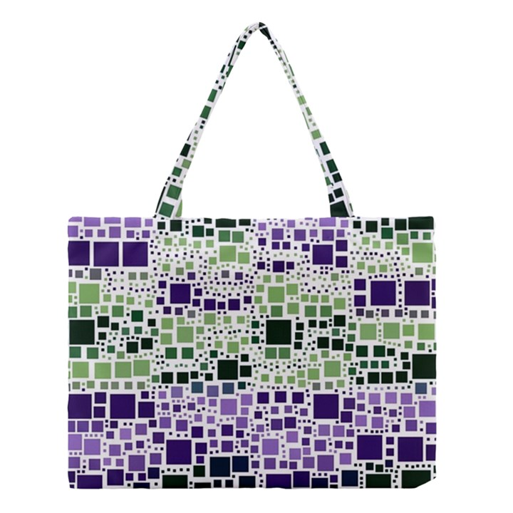 Block On Block, Purple Medium Tote Bag