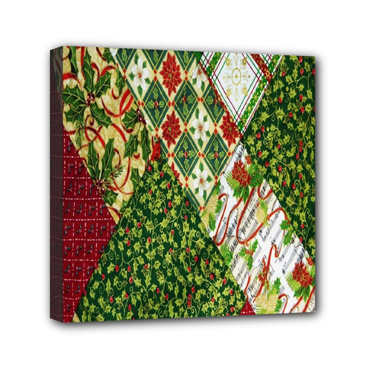 Christmas Quilt Background Mini Canvas 6  x 6