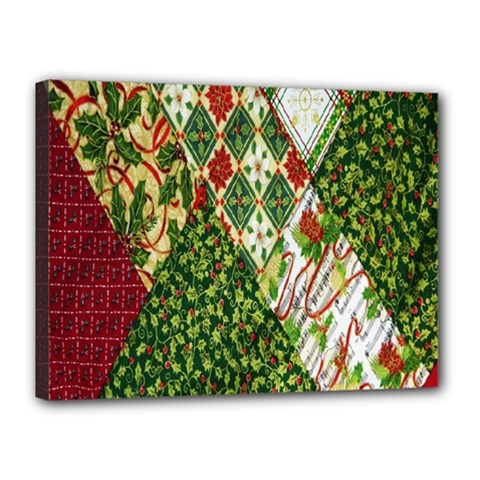 Christmas Quilt Background Canvas 16  x 12
