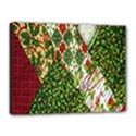Christmas Quilt Background Canvas 16  x 12  View1
