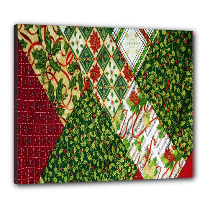 Christmas Quilt Background Canvas 24  x 20