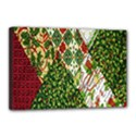 Christmas Quilt Background Canvas 18  x 12  View1