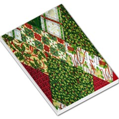 Christmas Quilt Background Large Memo Pads