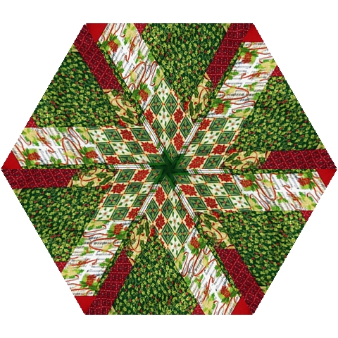 Christmas Quilt Background Mini Folding Umbrellas