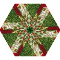 Christmas Quilt Background Mini Folding Umbrellas View1