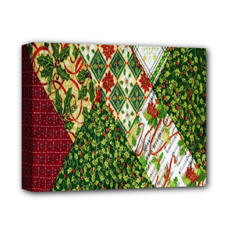 Christmas Quilt Background Deluxe Canvas 14  x 11