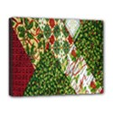 Christmas Quilt Background Deluxe Canvas 20  x 16   View1