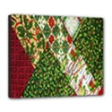 Christmas Quilt Background Deluxe Canvas 24  x 20   View1