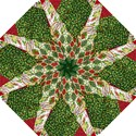 Christmas Quilt Background Hook Handle Umbrellas (Large) View1