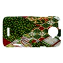 Christmas Quilt Background HTC One X Hardshell Case  View1