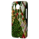 Christmas Quilt Background HTC Desire HD Hardshell Case  View3