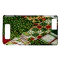 Christmas Quilt Background Motorola DROID X2 View1