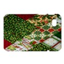 Christmas Quilt Background Samsung Galaxy Tab 7  P1000 Hardshell Case  View1