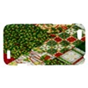 Christmas Quilt Background HTC One V Hardshell Case View1