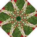 Christmas Quilt Background Hook Handle Umbrellas (Small) View1