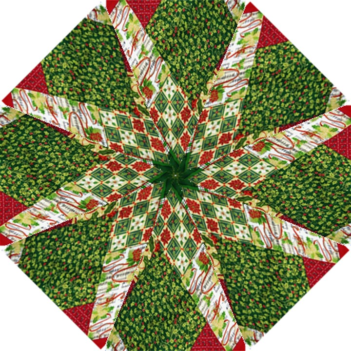 Christmas Quilt Background Hook Handle Umbrellas (Small)