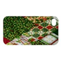 Christmas Quilt Background Apple iPhone 4/4S Premium Hardshell Case View1