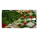 Christmas Quilt Background Sony Xperia S View1