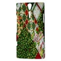 Christmas Quilt Background Sony Xperia S View3