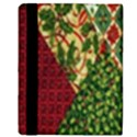 Christmas Quilt Background Apple iPad 2 Flip Case View3